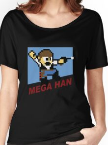 (MegaMan Shirt) Mega Han Shirt 8-bit Women's Relaxed Fit T-Shirt