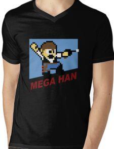 (MegaMan Shirt) Mega Han Shirt 8-bit Mens V-Neck T-Shirt