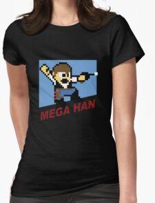 (MegaMan Shirt) Mega Han Shirt 8-bit Womens Fitted T-Shirt