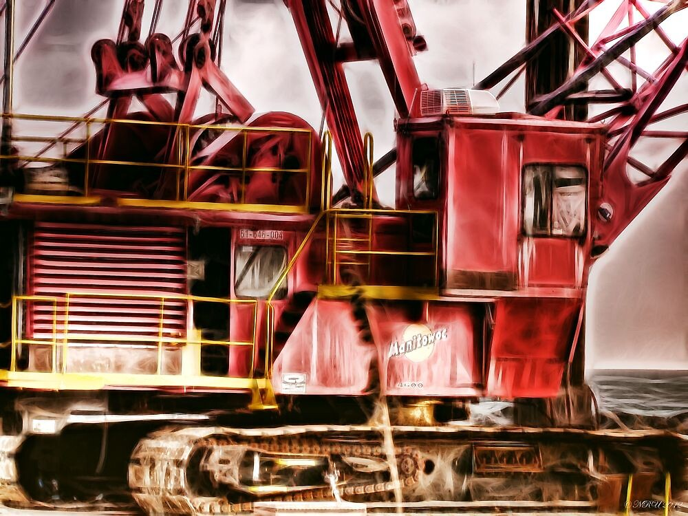 Old Crane by Noble Upchurch