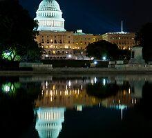 The Capitol Building at Night, Washington DC by Ken Howard