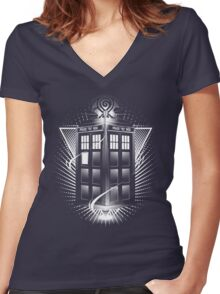 T A R D I S  Women's Fitted V-Neck T-Shirt