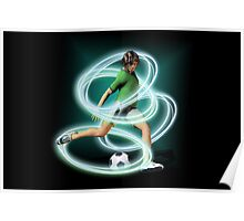 Soccer Player tee and iphone case Poster