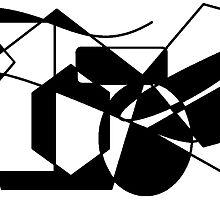 Geometric Black & White Shapes by Jana Gilmore