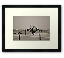 Harrier jump jet Framed Print