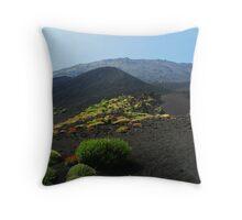 Volcanic Ash on Mt. Etna Throw Pillow