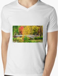 Autumn in Central Park, Study 1 Mens V-Neck T-Shirt