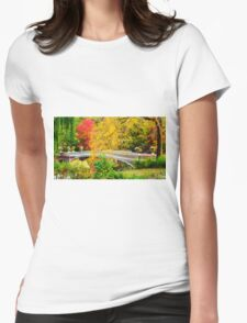 Autumn in Central Park, Study 1 Womens Fitted T-Shirt