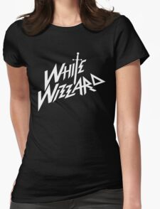 white wizzard band Womens Fitted T-Shirt