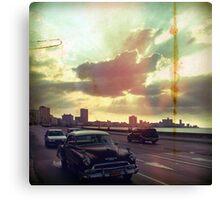 'Sunset Malecón' Canvas Print