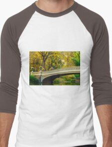 Autumn in Central Park, Study 2 Men's Baseball ¾ T-Shirt