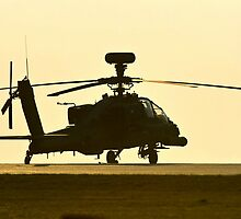 AH-64 Sunset by Stephen Kane