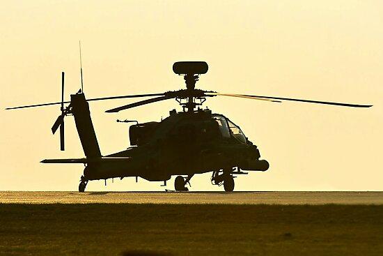 AH-64 Sunset by Stephen Kane