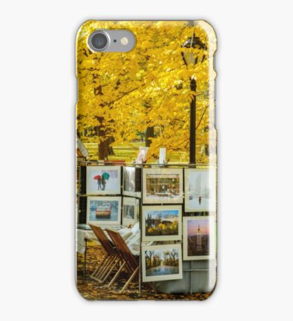 Autumn in Central Park, Study 3 iPhone Case/Skin