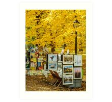 Autumn in Central Park, Study 3 Art Print