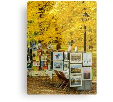Autumn in Central Park, Study 3 Metal Print
