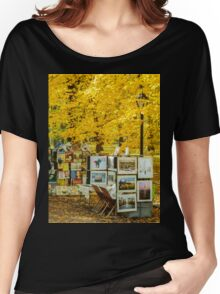 Autumn in Central Park, Study 3 Women's Relaxed Fit T-Shirt