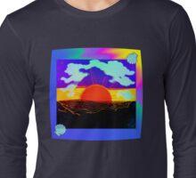 Vaporwave-Nostalgia Ocean Long Sleeve T-Shirt