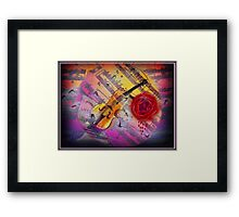as the moonlight shines Framed Print