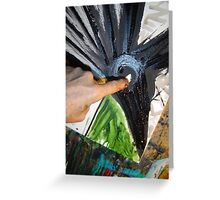 raven is blazen 1 Greeting Card