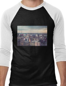Clearing Storm from Top of the Rock Men's Baseball ¾ T-Shirt