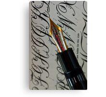 Calligraphy 101 Canvas Print