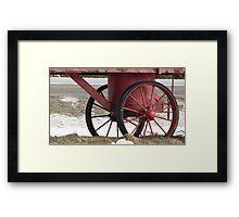 Red Wagon Wheels Framed Print