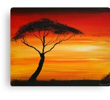 Series of Sunset# 3 Canvas Print