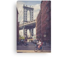 Bike Ride in Dumbo Canvas Print