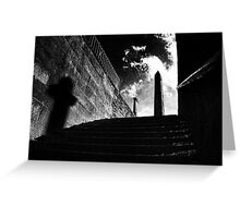 Horror Picture Shadow Dancer Greeting Card