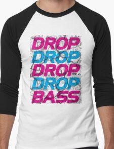 DROP DROP DROP DROP BASS Men's Baseball ¾ T-Shirt