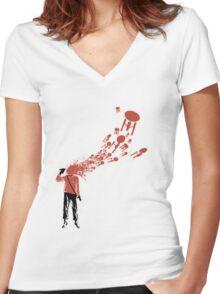 Trekkies in the Attic (spray version) Women's Fitted V-Neck T-Shirt