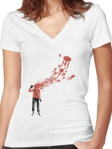 Trekkies in the Attic (spray version) Women's Fitted V-Neck T-Shirt
