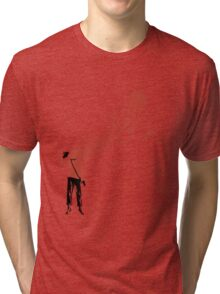 Trekkies in the Attic (spray version) Tri-blend T-Shirt