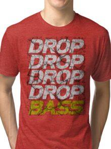 DROP DROP DROP DROP BASS (dark) Tri-blend T-Shirt