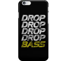 DROP DROP DROP DROP BASS (dark) iPhone Case/Skin