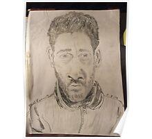Self-portrait -(050312)- graphite stick/A4 paper Poster