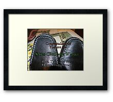 Challenge Winner - Shoes challenge Framed Print