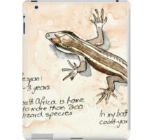 African Striped Skink - Not so easy! iPad Case/Skin