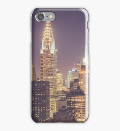 Chrysler Building Dusk iPhone Case/Skin