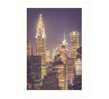 Chrysler Building Dusk Art Print