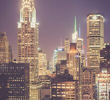 Chrysler Building Dusk by Randy  LeMoine