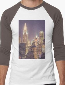Chrysler Building Dusk Men's Baseball ¾ T-Shirt
