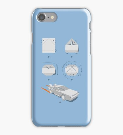 Origami DeLorean iPhone Case/Skin