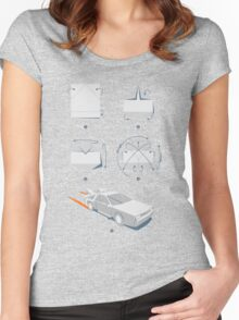 Origami DeLorean Women's Fitted Scoop T-Shirt
