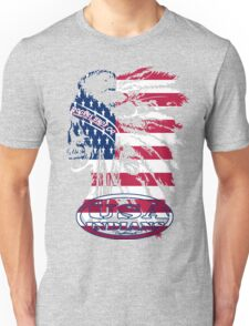 usa indian flag logo by rogers bros T-Shirt