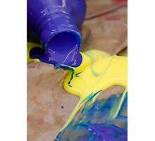Paint play Photographic Print