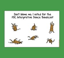 ABC Interpretive Dance Bandicoot One Piece - Short Sleeve