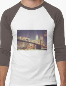 Landmarks Men's Baseball ¾ T-Shirt