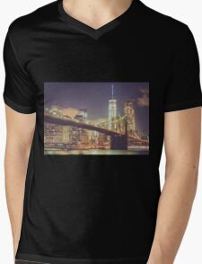 Landmarks Mens V-Neck T-Shirt